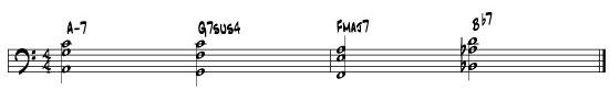 Harmonic Chord Progression for Bass