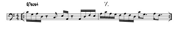 G7sus Improvised Bass Line